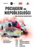 Chętnie podejmujemy wyzwanie prowadzenia wycieczek tematycznych, np. w 2018 r. cykl wycieczek kolejowych szlakiem wydarzeń prowadzących do odzyskania niepodległości.