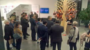 Wernisaż wystawy Drzewo życia drzewo pamięci w obecności ambasadora Republiki Armenii.