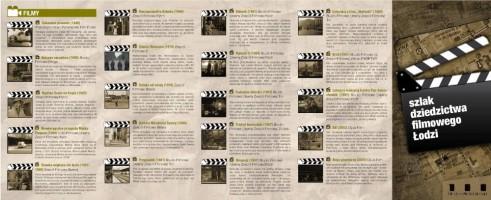 Szlak dziedzictwa filmowego Łodzi to nasz pierwszy projekt, zrealizowany w 2009 r. Udało się stworzyć serwis filmowalodz.pl, zrealizować kilkadziesiąt wycieczek oraz 4 pokazy filmowe (np. Ziemia obiecana na rynku Manufaktury)