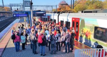 Mamy na koncie nie tylko wycieczki piesze, rowerowe i autokarowe, ale również pociągowe.